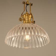 Ribbed Glass Pendant Light Fashion Style Ribbed Pendant Lights Industrial Lighting