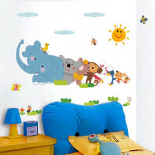 buy decals design u0027jungle cartoon cute animals u0027 wall sticker pvc