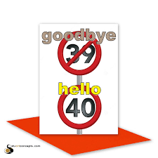 funny 40th happy birthday card for him for her by stuartconcepts
