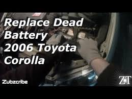 best car battery for toyota corolla 2006 toyota corolla replace car battery diy
