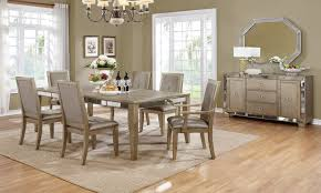 mirrored dining room furniture dining room fabulous mirrored dining table and chairs distressed