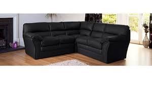 Black Leather Corner Sofa Leather Fabric Corner Sofas Homegenies