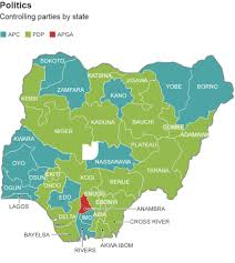 Nigeria Map Africa nigeria elections mapping a nation divided bbc news