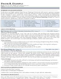 resume exles marketing marketing resume sle marketing resumes sles