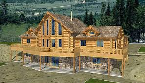 log cabin home designs cabin plans with basement luxamcc org