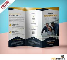 brochure 3 fold template psd professional corporate tri fold brochure free psd template