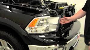 dodge ram 2500 headlight bulb how to install putco g2 dayliners led headlight trim on a dodge