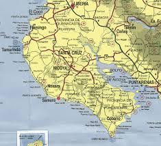 san jose costa rica on map getting to samara carrillo samara costa rica