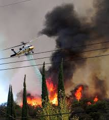Wildfire California 2016 by California Firefighters Gaining Against Calabasas Blaze