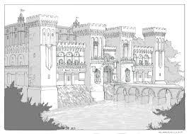 romanesque floor plan drawn castle romanesque pencil and in color drawn castle romanesque