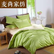 Yellow King Size Comforter Custom Solid Color Bedding Set Green 50 Silk Satin Bedding Sets