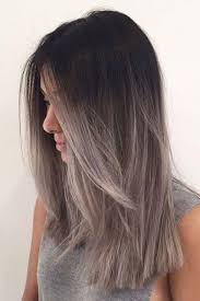 black grey hair picture of ombre hair from black to grey