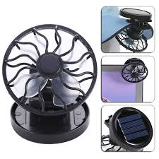 Travel Fan images Mini clip on solar sun powered fan panel black cooling cell fan jpg