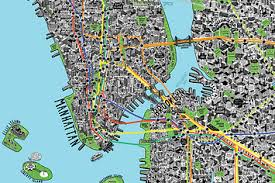 map of new york city intricately detailed map of new york city
