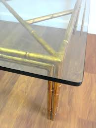 Glass Top Square Coffee Table Vintage Gilded Faux Bamboo Square Coffee Table Mecox Gardens