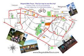 Colombian Map Bogotá Map U2013 Bogota Bike Tours