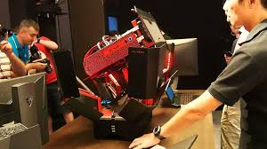 Shape Shifting by This Crazy Shape Shifting Pc Is The Gaming Rig Optimus Prime Would Use