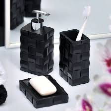 Black Bathroom Accessories by Wenko Relief Bath Accessories Set At Victorian Plumbing Uk