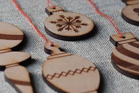 needle exchange wooden ornaments