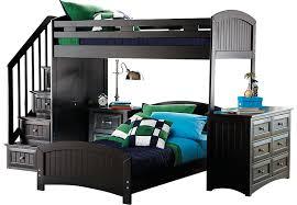 cottage colors black twin twin step loft with dresser bunk loft