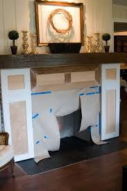 How To Cover Brick Fireplace by My 82 Fireplace Makeover The Lettered Cottage