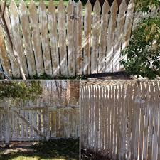 painting backyard fence