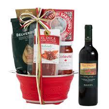 wine gift basket tuscan trattoria italian wine gift basket wine