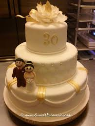 30 wedding anniversary 30th wedding anniversary cake sweet discoveries