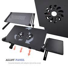 Laptop Desk Fan Aluminum Alloy Adjustable Laptop Desk Lapdesks Computer Table