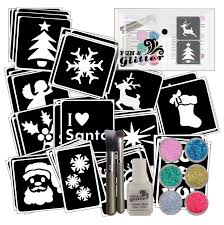 christmas glitter tattoo party pack fun u0026 glitter