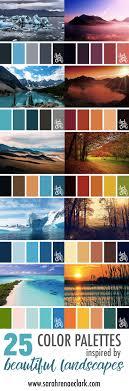good colour schemes color palettes inspired by beautiful landscapes best colour