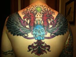 chest and shoulder tattoo progress on my back piece finished covering bad shoulder tattoos