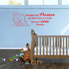 aliexpress com buy dumbo the elephant straight from heaven vinyl aliexpress com buy dumbo the elephant straight from heaven vinyl wall art baby room sticker nursery decal door window stencils mural decoration from