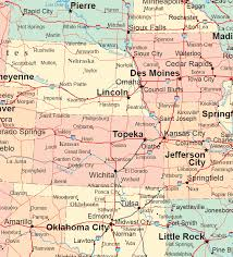 road map of iowa usa central plains states road map
