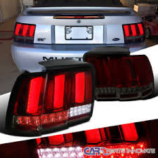 99 04 mustang sequential tail light kit 99 04 ford mustang red smoke lens led sequential turn signal tail