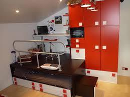 chambre podium création d espace estrade et bureau moderne chambre d enfant