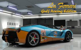 gulf racing wallpaper ferrari laferrari 2013 gulf racing gta5 mods com