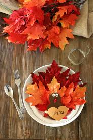 paper plate turkey craft place setting