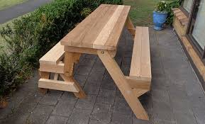 Folding Picnic Table Instructions by Folding Picnic Table Diy Out Of 2x4 Lumber Step 16 Well Done