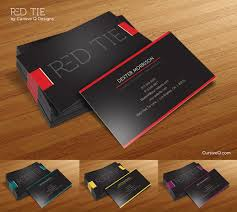 red tie free business card photoshop psd template cursive q