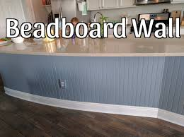 kitchen island wall beadboard wall on kitchen island