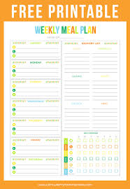 free printable budget sheet weekly meals weekly meal planner