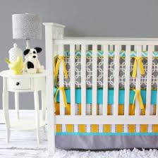 Grey And Yellow Crib Bedding Modern Baby Bedding Modern Crib Bedding For