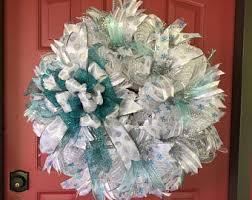 christmas mesh wreaths deco mesh wreaths etsy
