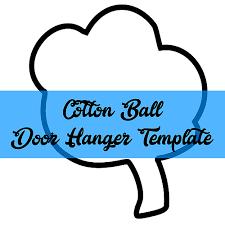 southernadoornments cotton ball door hanger template
