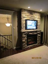 our own project u2013 built in flat screen tv and cultured stone