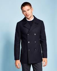 double breasted peacoat navy jackets coats ted baker