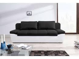 canapé convertible 3 places conforama canapé convertible 3 places en tissu uno coloris blanc noir