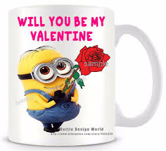 online shop will you be my valentine minion funny novelty travel