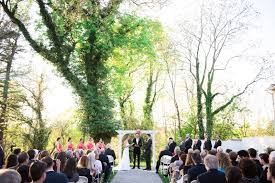 outdoor wedding venues in maryland and colorful wedding ceremony in maryland